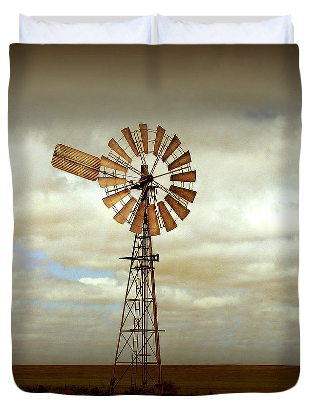 Windmill Duvet Cover featuring the photograph Catch The Wind by Holly Kempe