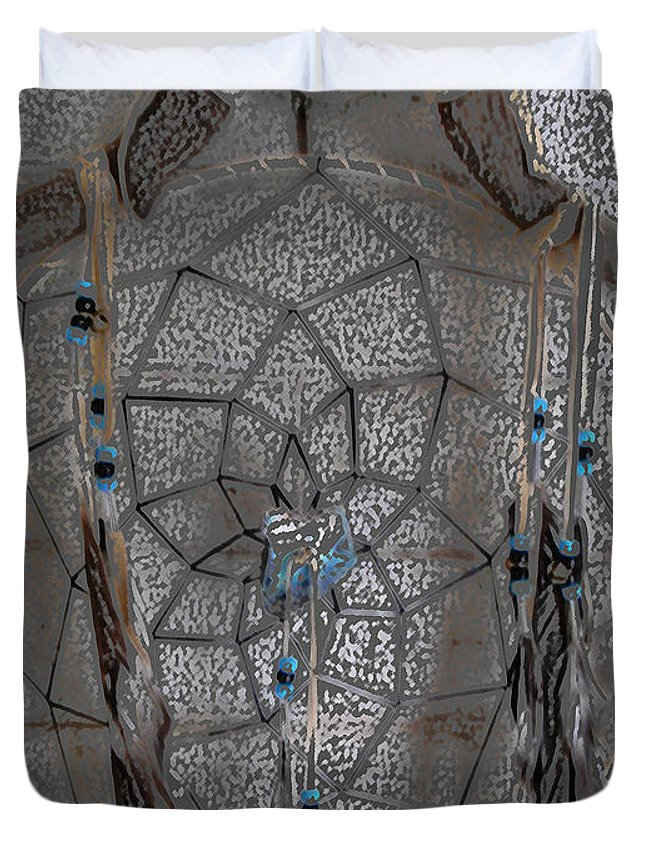 Dream Catcher Duvet Cover featuring the digital art Catching Dreams by Lovina Wright