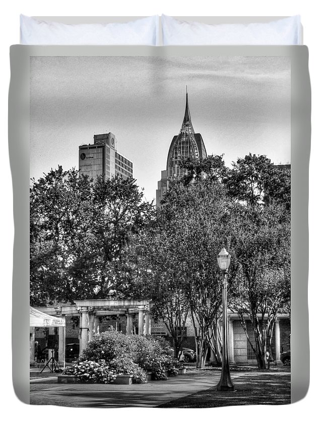 Alabama Duvet Cover featuring the digital art Cathedral And Rsa by Michael Thomas
