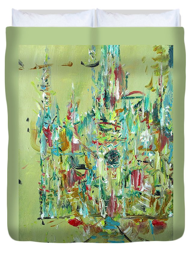 Cathedral Duvet Cover featuring the painting Cathedral by Fabrizio Cassetta
