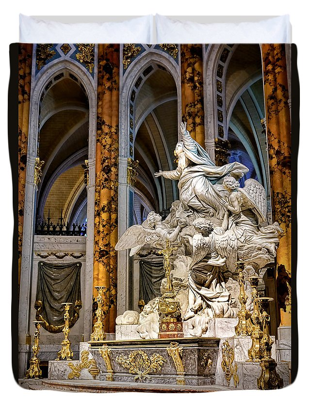 France Duvet Cover featuring the photograph Cathedral Of Chartres Altar by Olivier Le Queinec