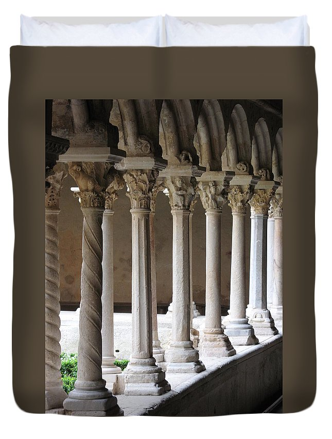 Croos Duvet Cover featuring the photograph Cathedral St Sauveur - Croos-coat by Christiane Schulze Art And Photography