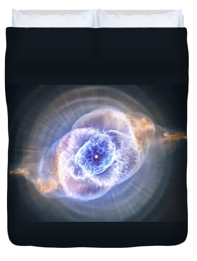 3scape Duvet Cover featuring the photograph Cat's Eye Nebula by Adam Romanowicz