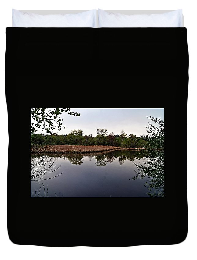 Cattail Duvet Cover featuring the photograph Cattail Swamp I by Joe Faherty