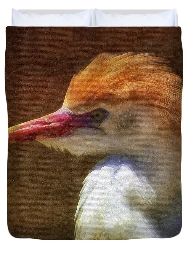 Bird Duvet Cover featuring the photograph Cattle Egret 2 by Ingrid Smith-Johnsen