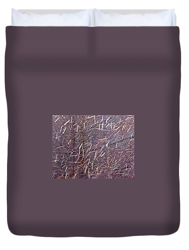 Rain Duvet Cover featuring the photograph Caught In The Rain by Kume Bryant