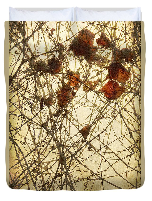 Glass Duvet Cover featuring the photograph Caught by Margie Hurwich