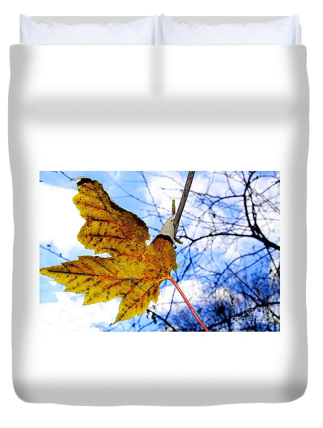 Caught Duvet Cover featuring the photograph Caught by Nina Silver