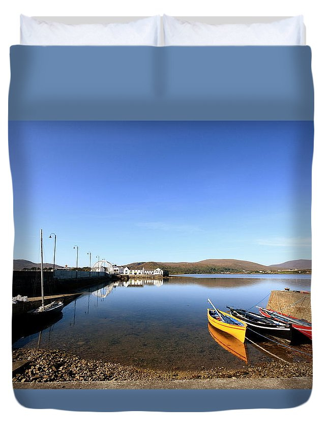 Causeway Duvet Cover featuring the photograph Causeway To Achill by Paul Williams