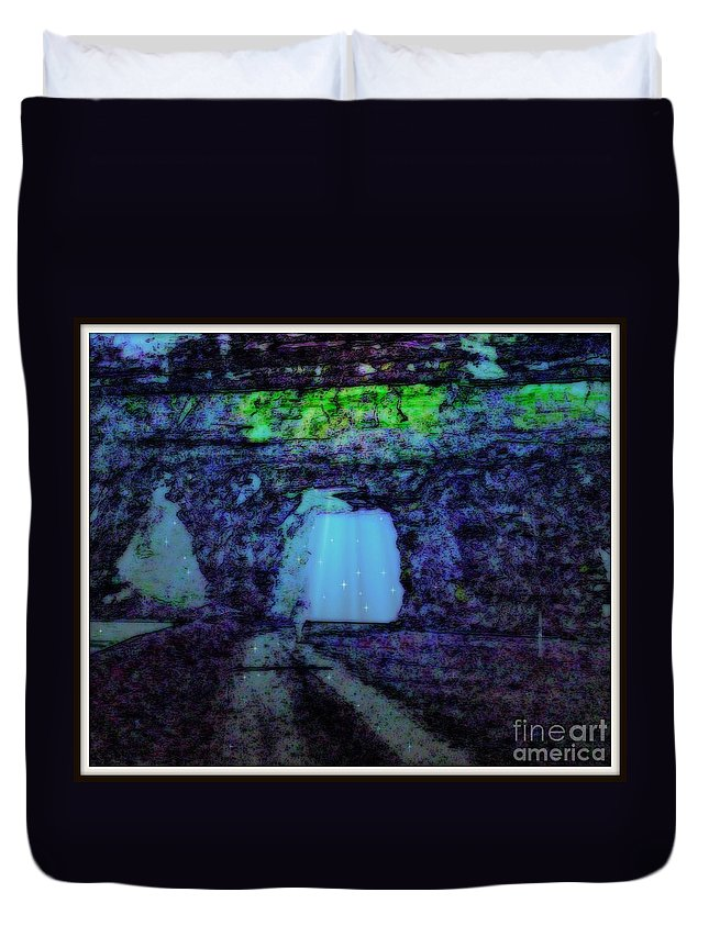 Duvet Cover featuring the photograph Entering The Dream State by Kelly Awad