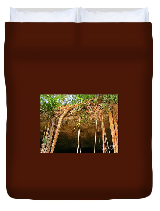 Cave Opening Duvet Cover featuring the photograph Cave Opening by John Malone