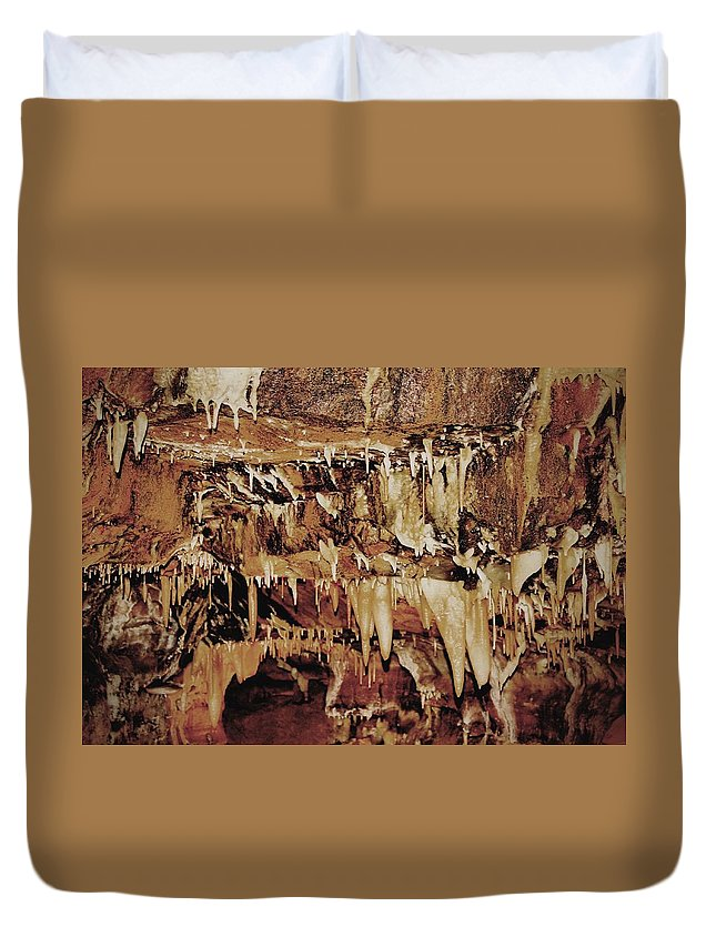 Caverns Duvet Cover featuring the photograph Cavern Beauty by Dan Sproul