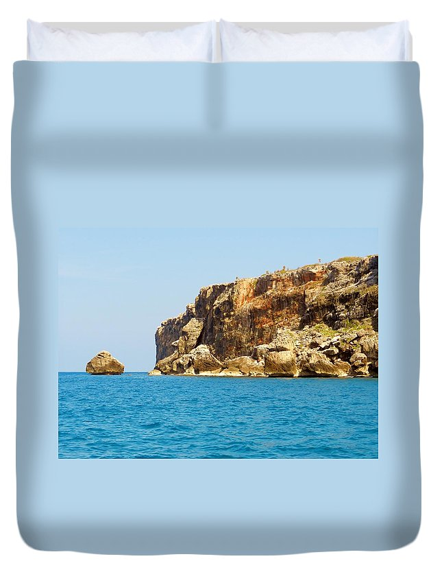 Color Duvet Cover featuring the photograph Cayman Brac And Lil Cyb by Amar Sheow