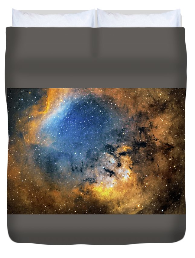 Horizontal Duvet Cover featuring the photograph Cederblad 214 Emission Nebula by Lorand Fenyes