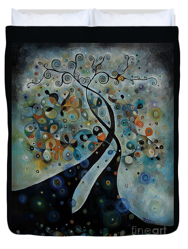 Velebration Duvet Cover featuring the painting Celebration by Manami Lingerfelt