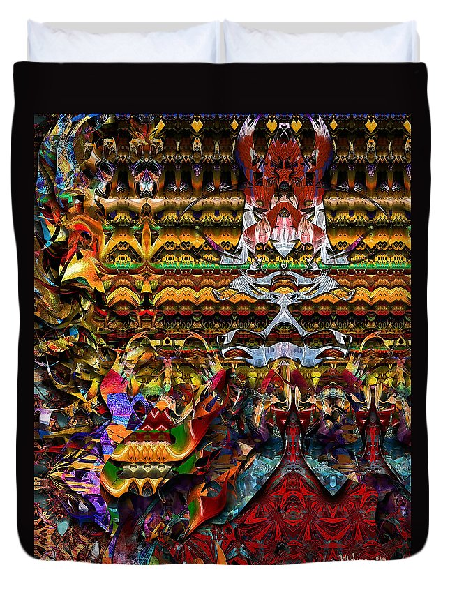 Colorful Duvet Cover featuring the digital art Celebration by Mike Butler