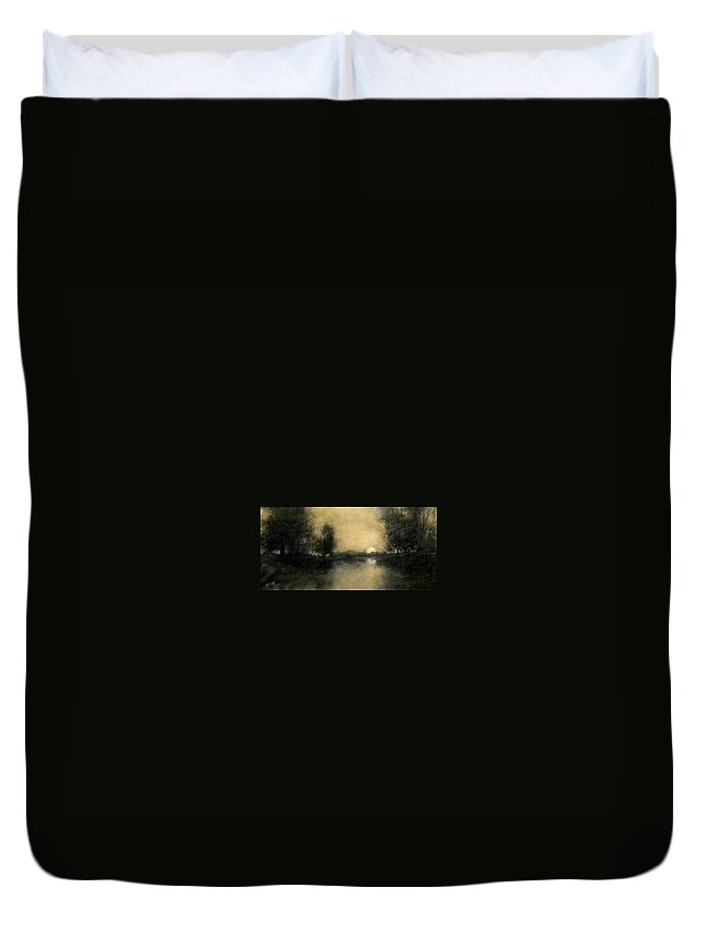 Celstial Duvet Cover featuring the painting Celestial Place #1 by Jim Gola