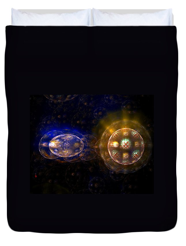 Fractal Art Duvet Cover featuring the digital art Cell Division by Adam Vance