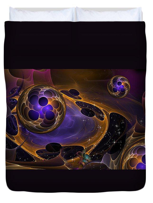 Phil Sadler Duvet Cover featuring the digital art Cell Forms 2 by Phil Sadler