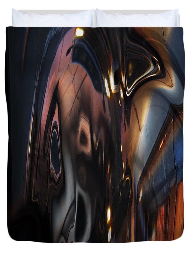 Phone Duvet Cover featuring the digital art Cellphone's Revenge by Tom Hubbard
