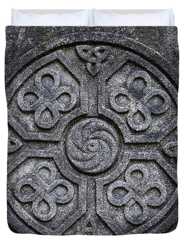 Celtic Duvet Cover featuring the photograph Celtic Cross Symbolism by John Greim