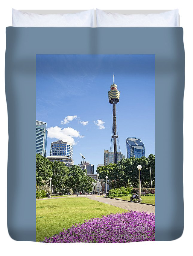 Architecture Duvet Cover featuring the photograph Central Sydney Park In Australia by Jacek Malipan