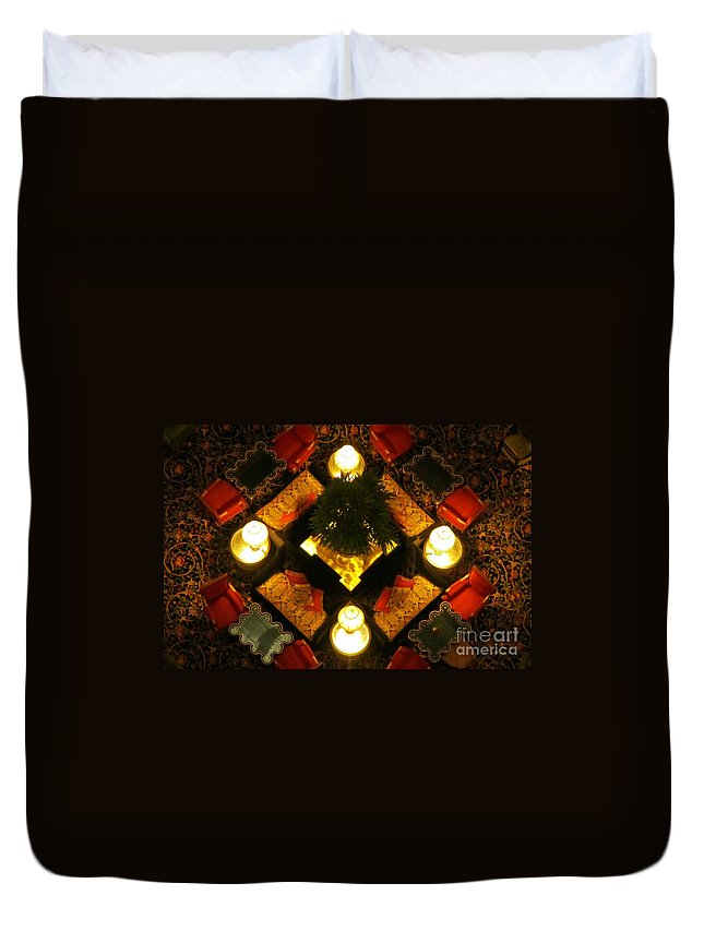 Atrium Art Prints Duvet Cover featuring the photograph Centre Of The Brown Palace Atrium by John Malone