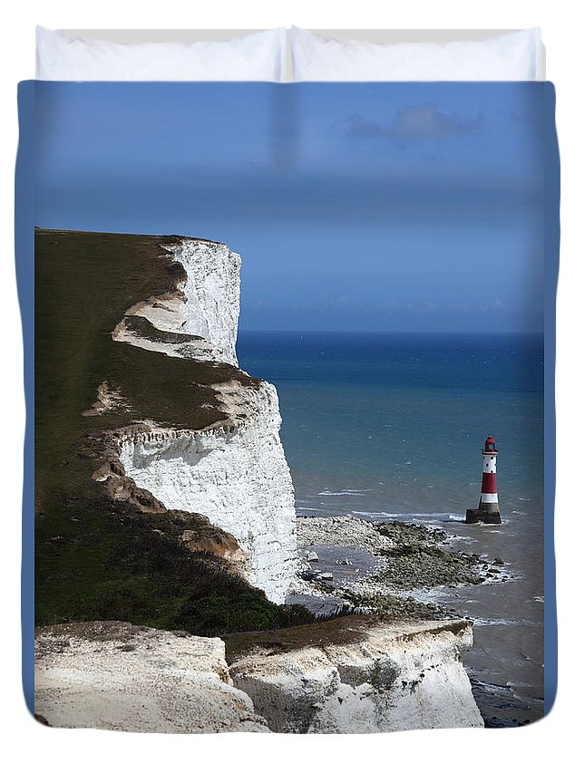 England Duvet Cover featuring the photograph Chalk Headlands Near Beachy Head Esat Sussex by James Brunker