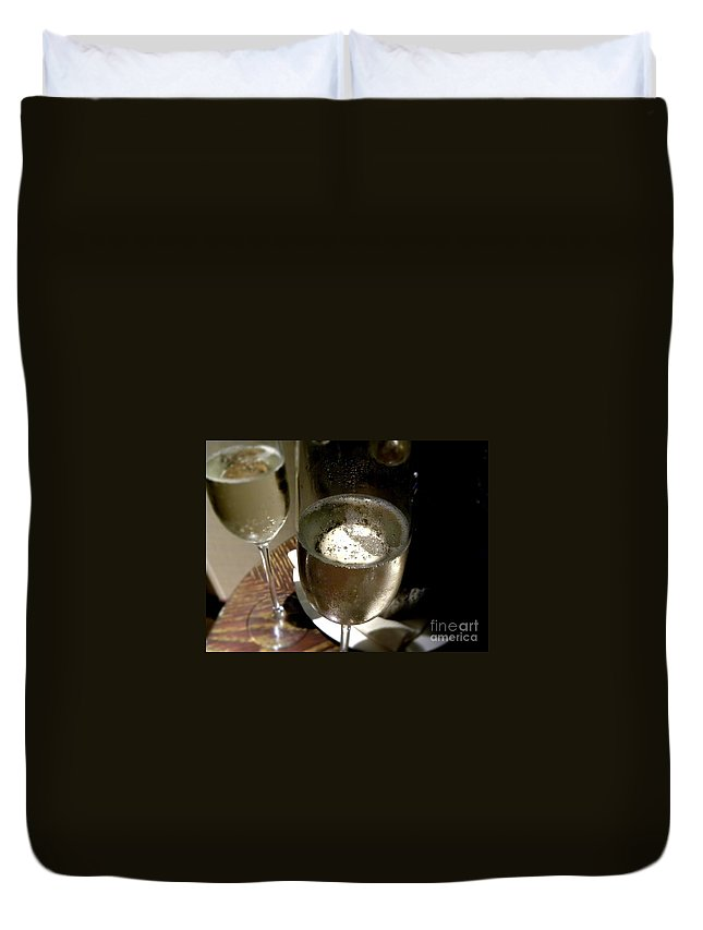 Champagne Duvet Cover featuring the photograph Champagne by Tisha Clinkenbeard