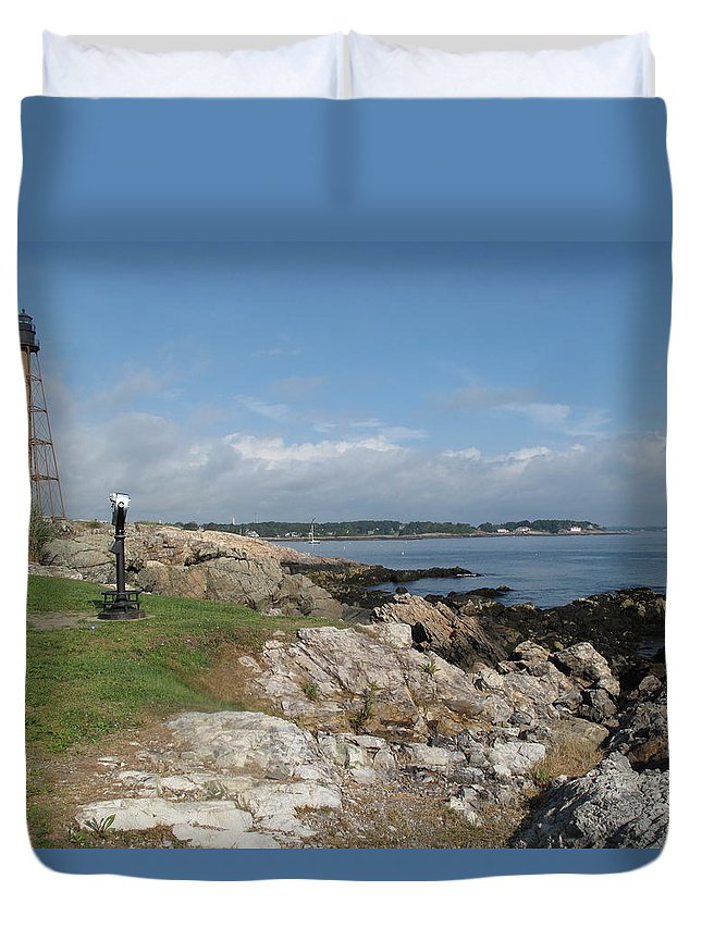 Marblehead Duvet Cover featuring the photograph Chandler Hovey Park Marblehead Massachusetts by Barbara McDevitt