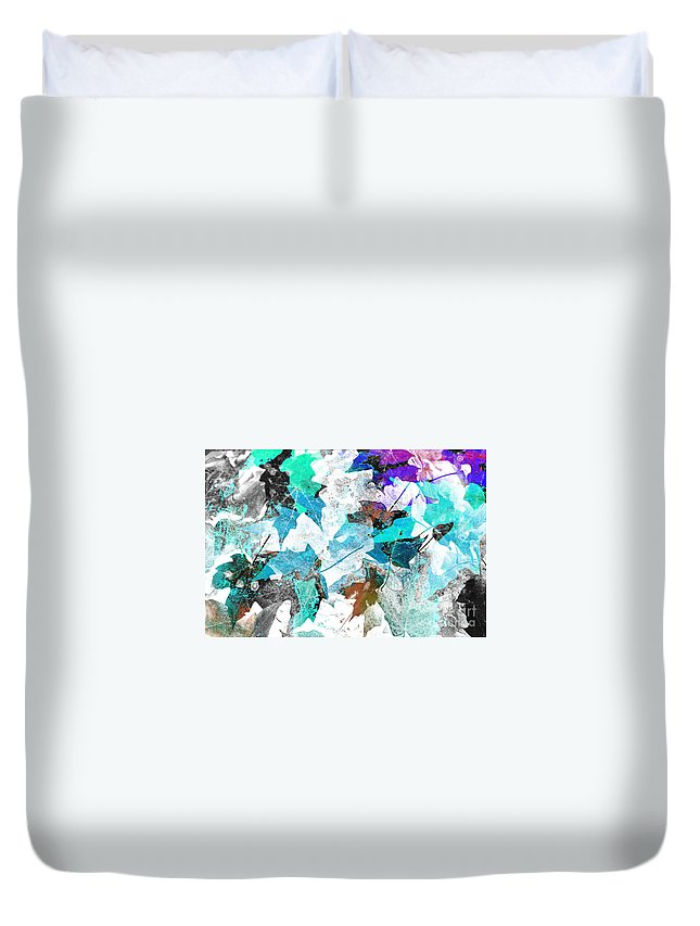 Digital Art Abstract Duvet Cover featuring the digital art Change Is On The Way by Yael VanGruber