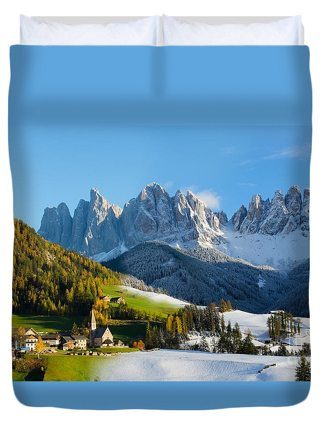 Change Of Season Duvet Cover featuring the photograph Change Of Season With Fall Turning Into Winter by IPics Photography