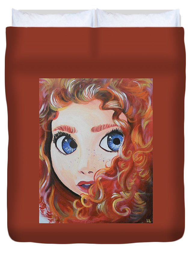 Meride Duvet Cover featuring the painting Change Your Fate by Lisa Leeman