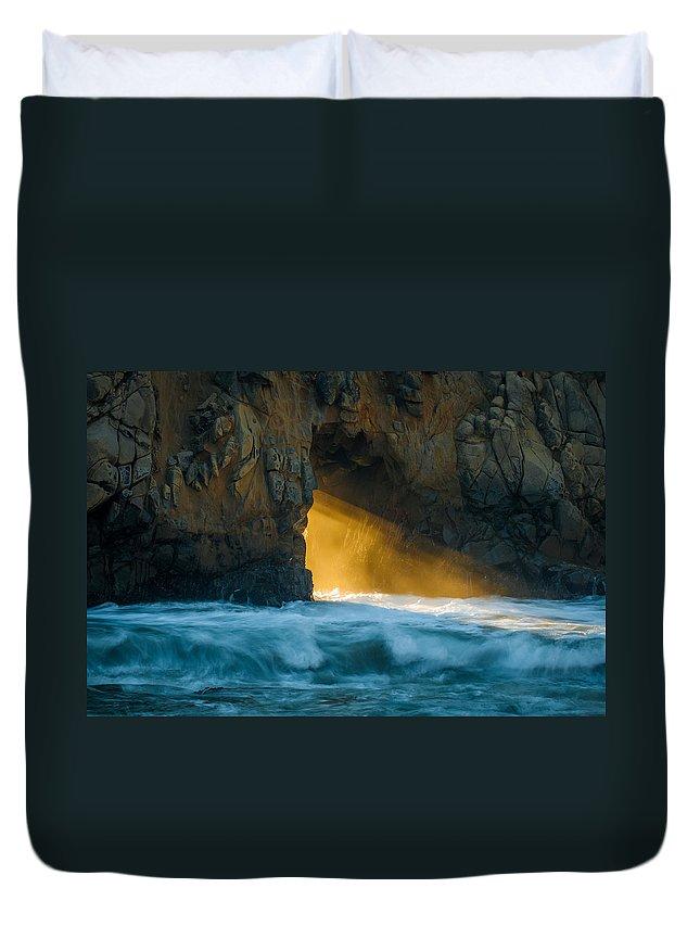 Chaos Duvet Cover featuring the photograph Chaos - Pfeiffer Beach by George Buxbaum