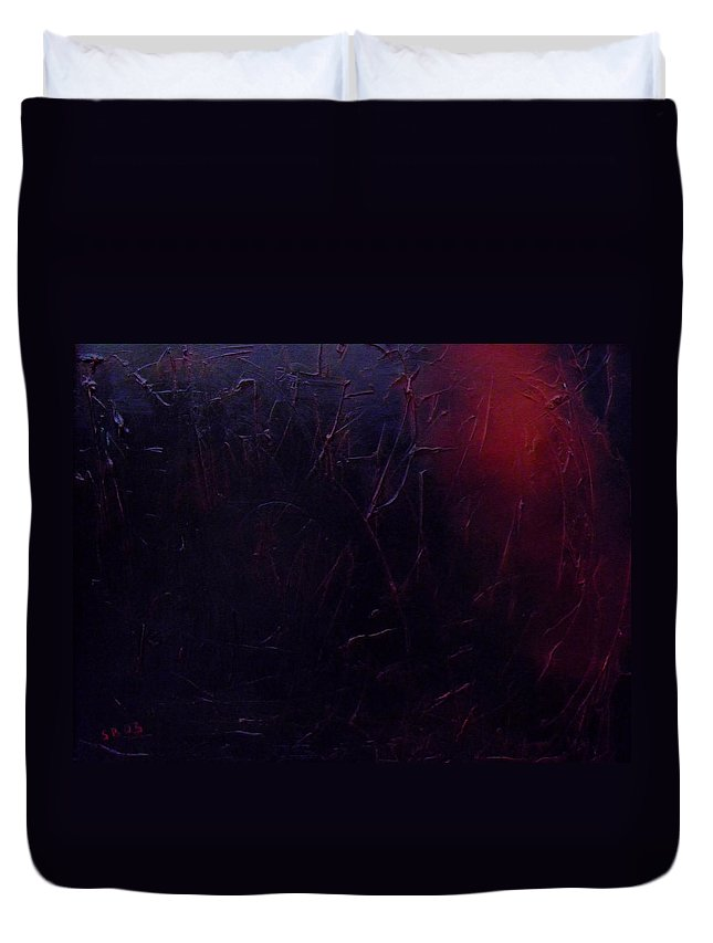 Abstract Duvet Cover featuring the painting Chaos by Sergey Bezhinets