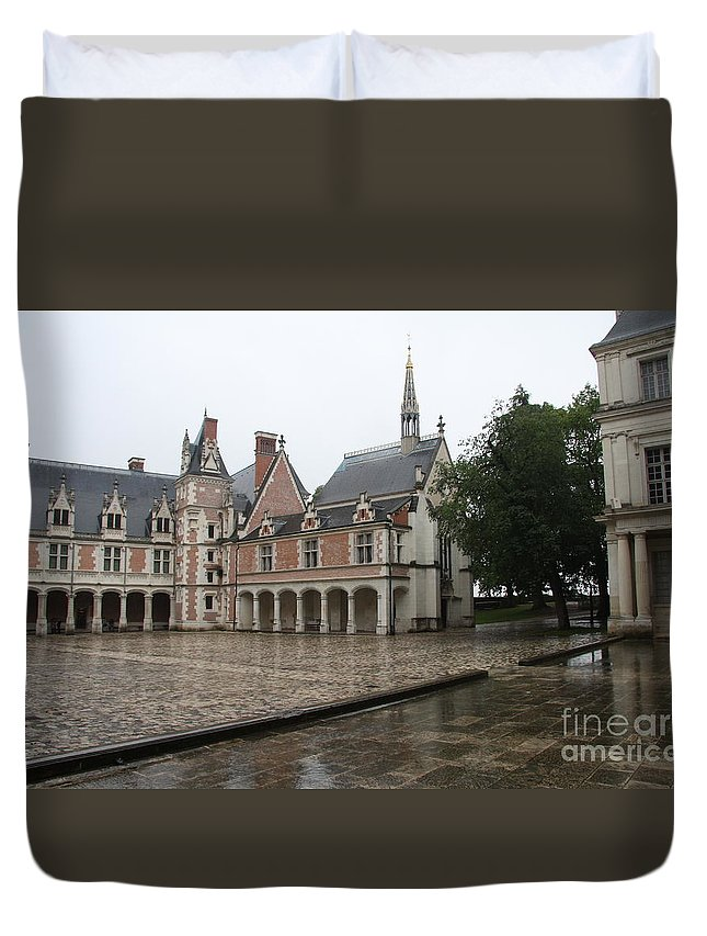 Palace Duvet Cover featuring the photograph Chapel And Courtyard Chateau Blois by Christiane Schulze Art And Photography