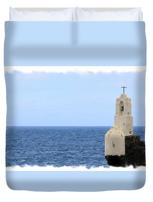 Chapel In Tenerife Duvet Cover featuring the photograph Chapel by Ha Ko