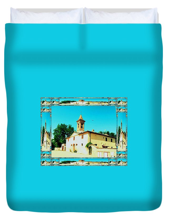 Church Photographs Duvet Cover featuring the photograph Chapel In The Sun by Nikki Keep