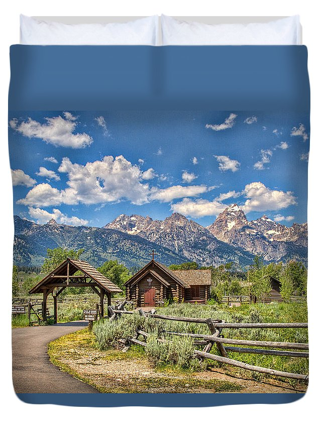 Chapel Duvet Cover featuring the photograph Chapel Of Transfiguration by Leon Roland