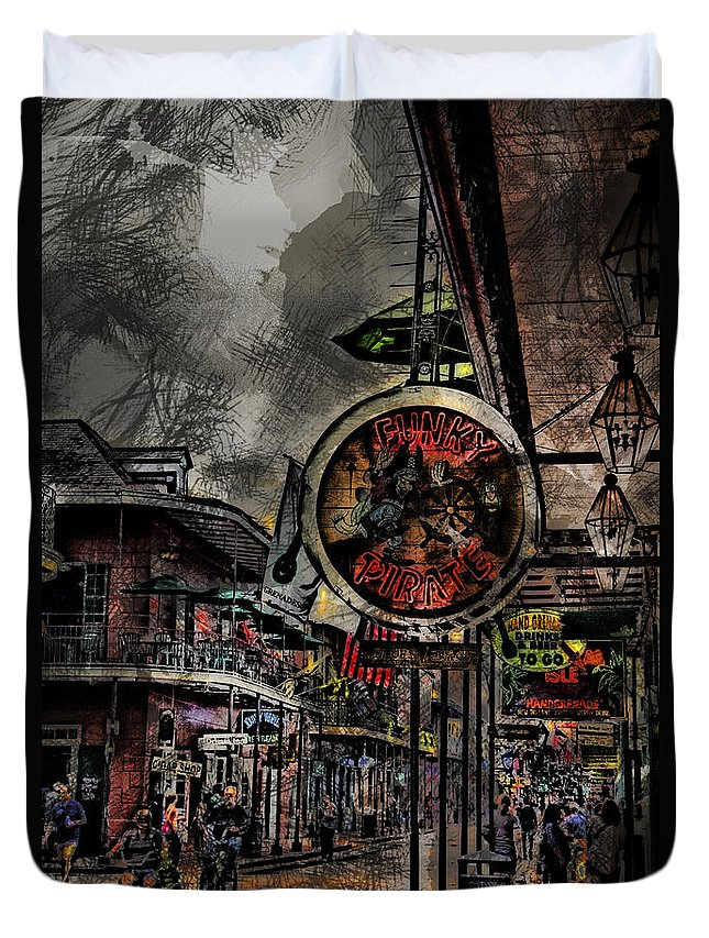 Characteristics Duvet Cover featuring the photograph Characteristics Of New Orleans V5 by Douglas Barnard