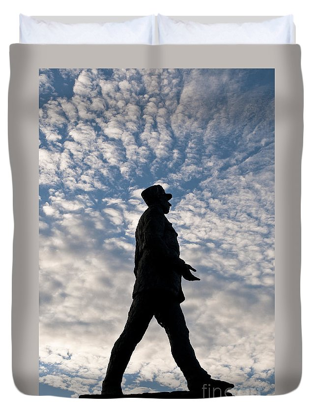 Europe Duvet Cover featuring the photograph Charles De Gaulle by Lana Enderle