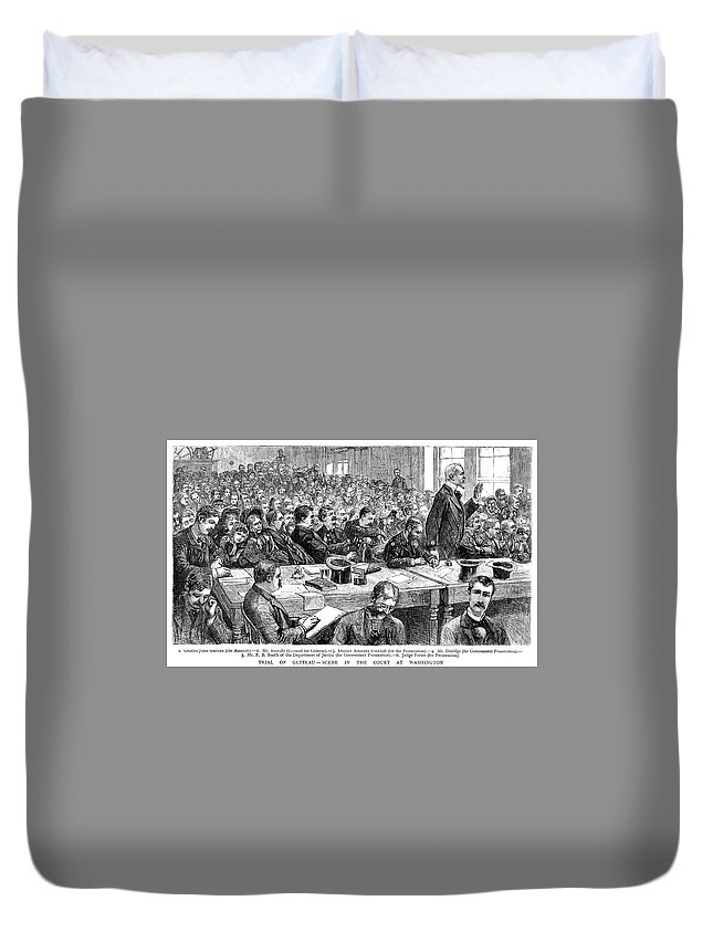 1881 Duvet Cover featuring the painting Charles Jules Guiteau (1840?-1882) by Granger