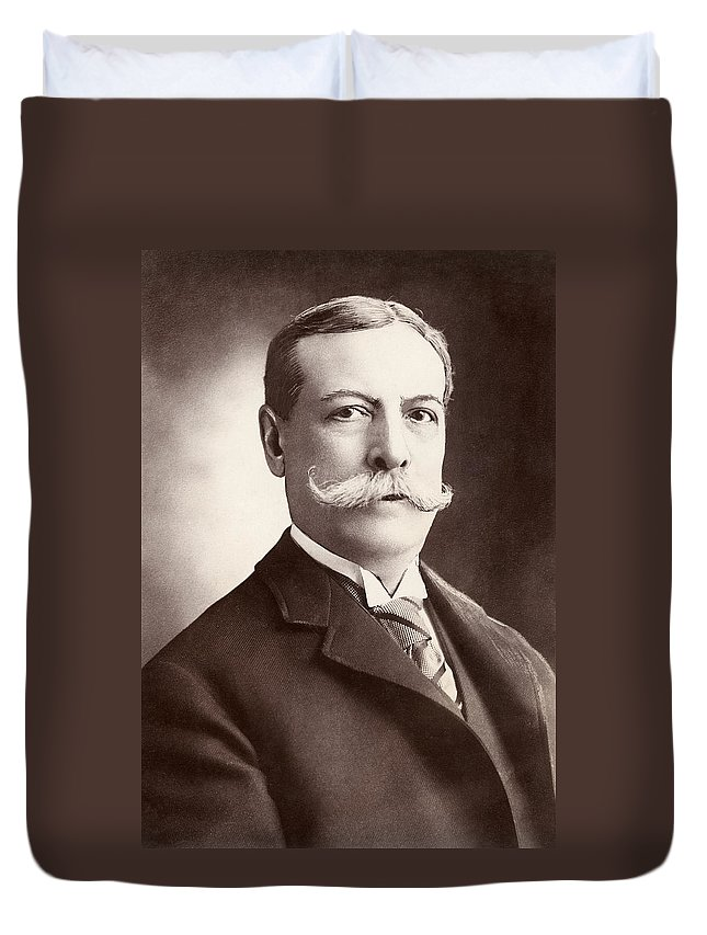 1905 Duvet Cover featuring the photograph Charles Yerkes (1837-1905) by Granger