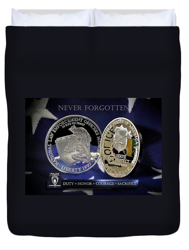 Charlotte Police Duvet Cover featuring the photograph Charlotte Police Memorial by Gary Yost