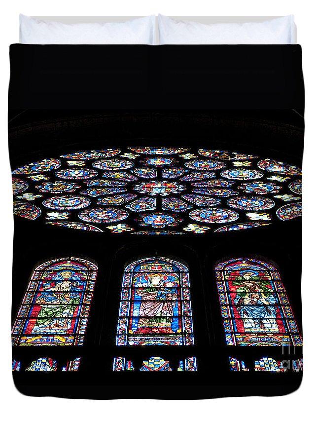 Chartres Cathedral Duvet Cover featuring the photograph Chartres by Lana Enderle