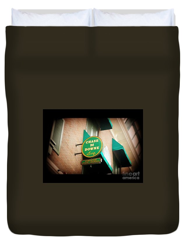 Duvet Cover featuring the photograph Chase M Downe Esq. by Kelly Awad