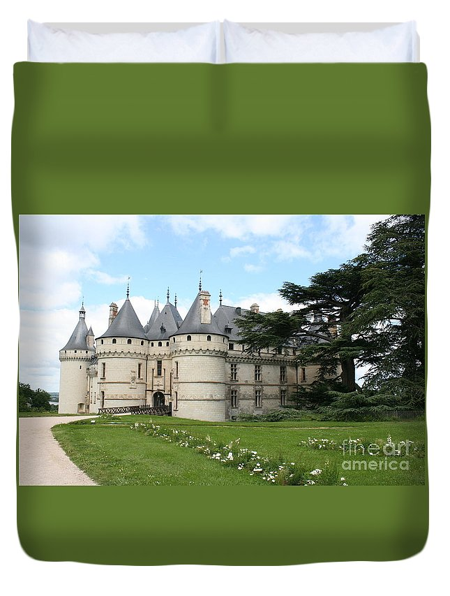 Palace Duvet Cover featuring the photograph Chateau Chaumont From The Garden by Christiane Schulze Art And Photography