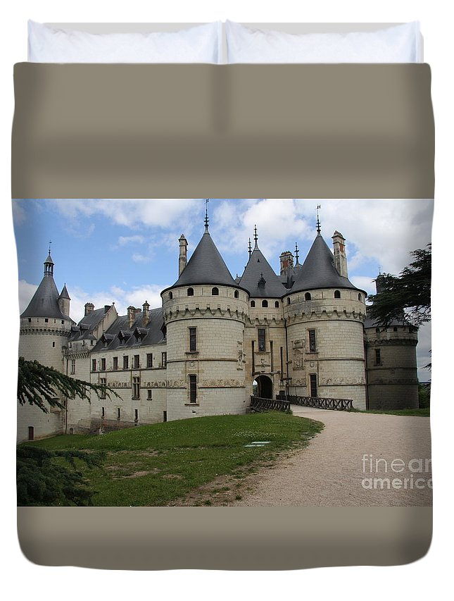 Palace Duvet Cover featuring the photograph Chateau Chaumont Steeples by Christiane Schulze Art And Photography