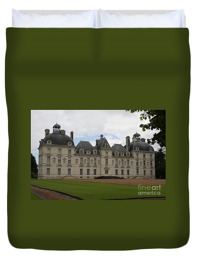 Palace Duvet Cover featuring the photograph Chateau Cheverney - Front View by Christiane Schulze Art And Photography