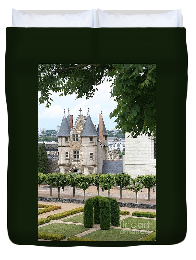 Castle Duvet Cover featuring the photograph Chateau D'angers - Chatelet View by Christiane Schulze Art And Photography